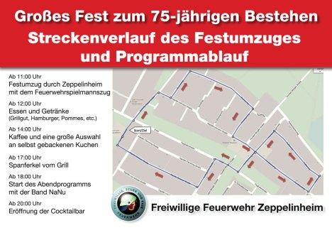 Jubiläumsfest 75 Fahre Feuerwehr Zeppelinheim