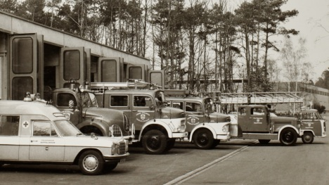 Fahrzeugbestand der Feuerwehr Zeppelinheim im Jahr 1977
