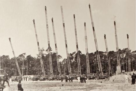 Kreisfeuerwehrtag in Zeppelinheim im Jahr 1965