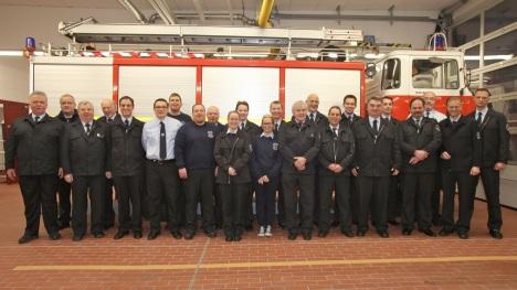 Gruppenbild Feuerwehr Zeppelinheim Januar 2014