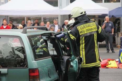 Tag der offenen Tür - Übung Verkehrsunfall