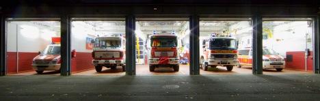 Feuerwehrhaus Zeppelinheim Fahrzeughalle